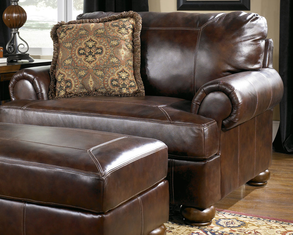 Reverse Auction Ashley Furniture Axiom Walnut Leather